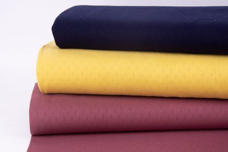 Feinstrick Jersey Baumwolle Pointoille Lochmuster einfarbig navy blau 1,4m Breite – Bild 5