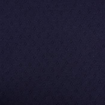 Feinstrick Jersey Baumwolle Pointoille Lochmuster einfarbig navy blau 1,4m Breite – Bild 1