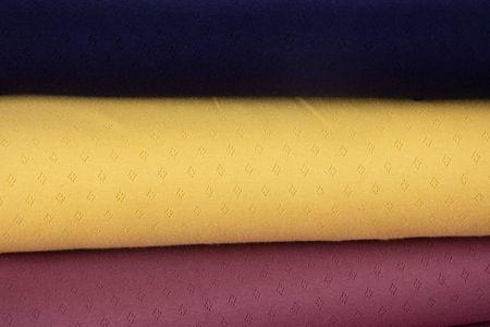 Feinstrick Jersey Baumwolle Pointoille Lochmuster einfarbig mauve 1,4m Breite – Bild 6