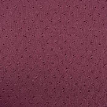 Feinstrick Jersey Baumwolle Pointoille Lochmuster einfarbig mauve 1,4m Breite – Bild 1