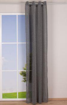 Ösenvorhang Glitzer Voile silberfarbig schwarz 140x245cm – Bild 2