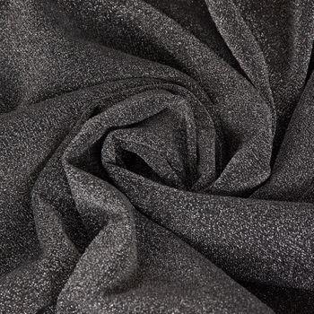 Ösenvorhang Glitzer Voile silberfarbig schwarz 140x245cm – Bild 10