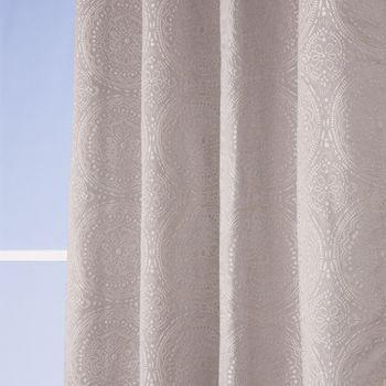 Ösenvorhang Jacquard Mandala floral grau weiß 135x245cm – Bild 3