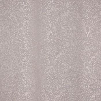 Ösenvorhang Jacquard Mandala floral grau weiß 135x245cm – Bild 5