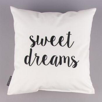 Magma Deko Kissen -Sweet Dreams- weiß schwarz 40x40cm – Bild 3