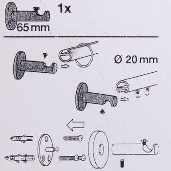 Serie NewYork 1-lauf Träger kurz function-turn Ø20mm edelstahl-optik für Wand oder Deckenmontage – Bild 5