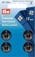 Prym 4 Annäh Druckknöpfe MS schwarz 17mm