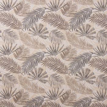 Dekostoff Baumwollstoff Palmenblätter natur braun grau 1,40m Breite – Bild 1