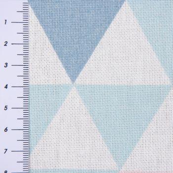 SCHÖNER LEBEN. Kissenhülle Metallic Dreiecke weiß blau rosa – Bild 7