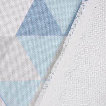 SCHÖNER LEBEN. Kissenhülle Metallic Dreiecke weiß blau rosa – Bild 8