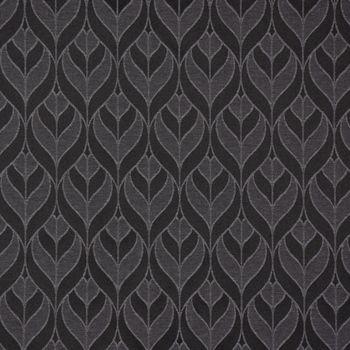 SCHÖNER LEBEN. Tischdecke Jacquard Blätter Geometrisch schwarz grau – Bild 2