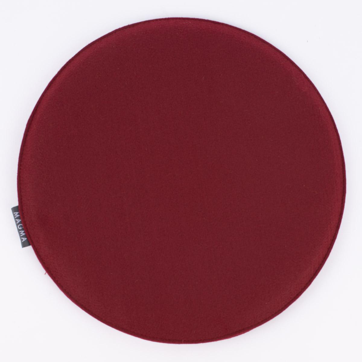 Magma Stuhlkissen Avaro Filz Rund Wein Rot 35x2cm 1000kissen De Der Kissenspezialshop Von Schoner Leben