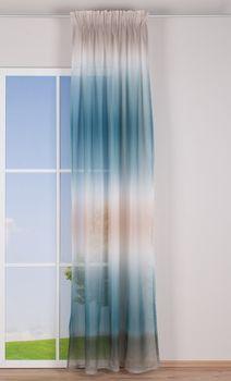 Schlaufenvorhang Farbverlauf beige weiß blau grün 140x255cm – Bild 2
