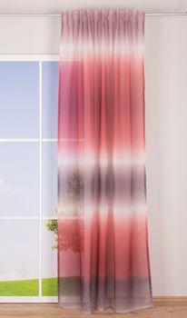Schlaufenvorhang Farbverlauf rosa weiß rot taupe 140x255cm – Bild 2