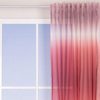 Schlaufenvorhang Farbverlauf rosa weiß rot taupe 140x255cm – Bild 1