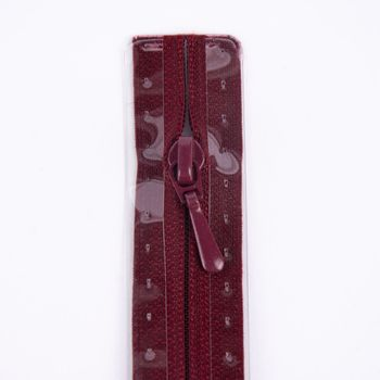 Prym Reißverschluss RV S2 Typ 0 Nahtfein 50 cm Fla burgund – Bild 2