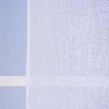 Ösengardine Leinenoptik uni weiß 140x260cm – Bild 8