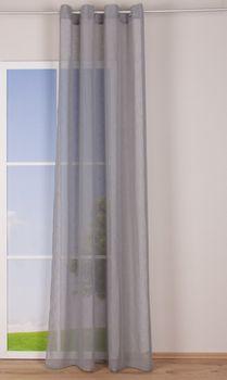 Ösengardine Leinenoptik uni grau 140x260cm – Bild 2