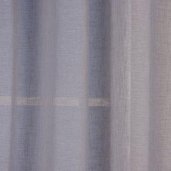 Ösengardine Leinenoptik uni grau 140x260cm – Bild 4