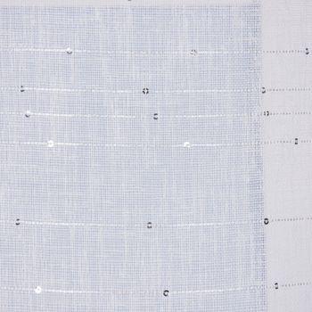Ösengardine Schnurstreifen mit Glitzerpailletten weiß 135x260cm – Bild 8