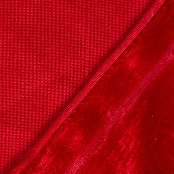 Samtstoff Kreativstoff Pannesamt einfarbig tomatenrot rot 1,45m – Bild 3