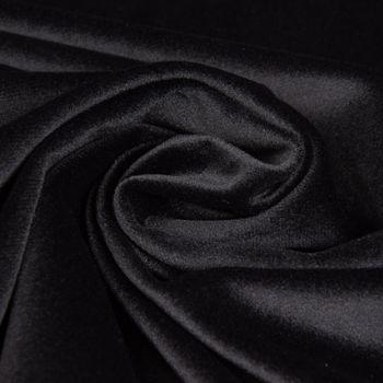 Samtstoff Dekostoff Velvet Samt einfarbig schwarz 1,4m – Bild 2