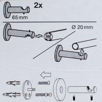 2Stk Träger Serie LasVegas kurz 1-Lauf Ø20mm rost, 2er – Bild 4