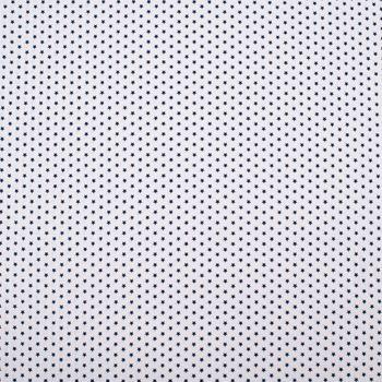 Baumwollstoff Mini Sterne weiß dunkelblau 1,40m Breite – Bild 1