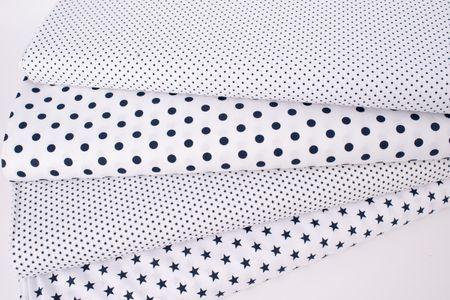 Baumwollstoff Punkte mini Ø 1mm weiß dunkelblau 1,40m Breite – Bild 9