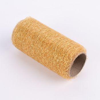 Dekoband Textilfaser einfarbig gold 500x12cm – Bild 1