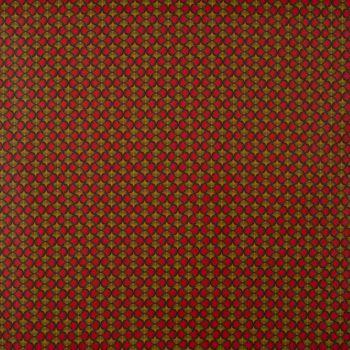 Dekostoff Baumwollstoff Ginkgo Blätter rot ocker schwarz 1,60m Breite – Bild 1