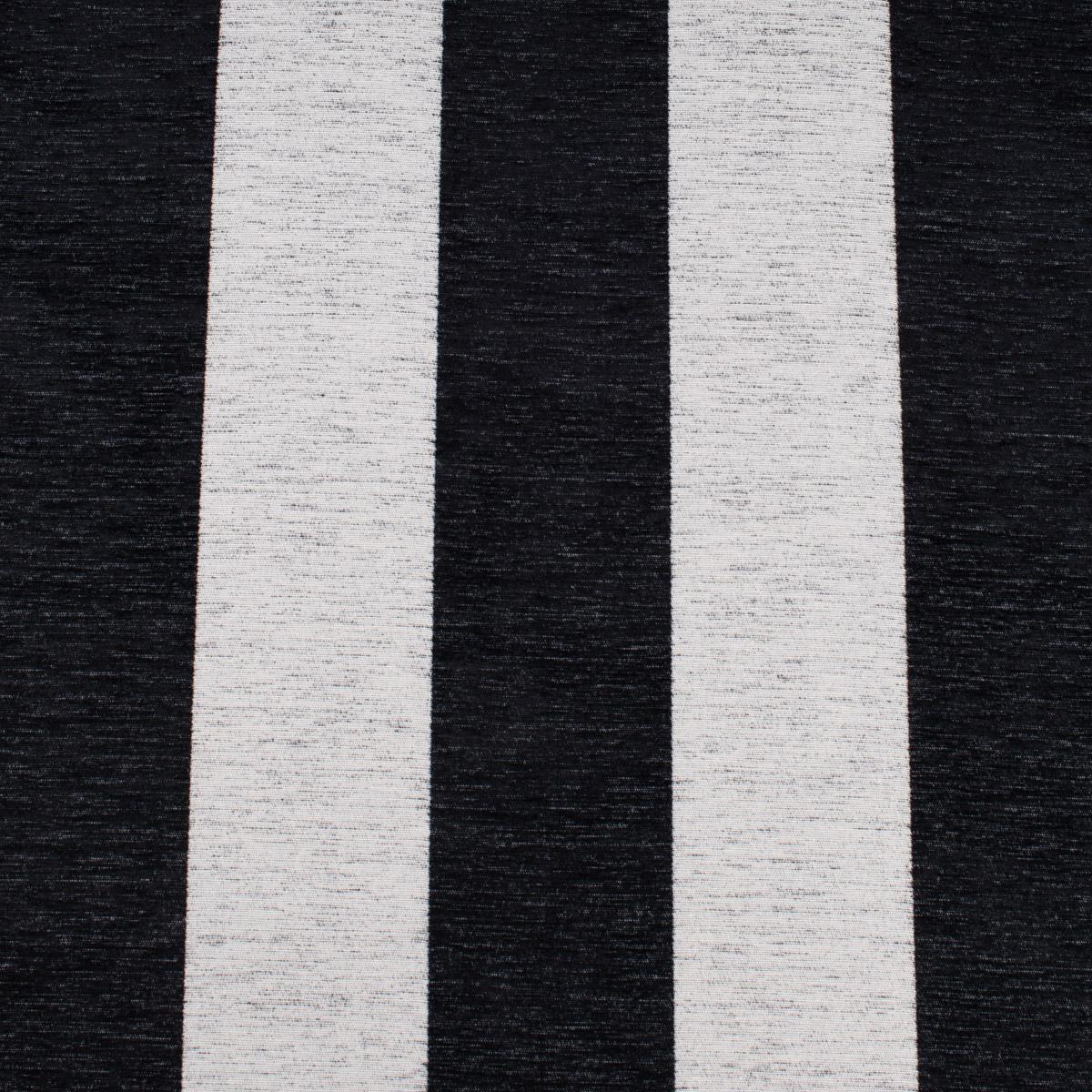 Dekostoff Jacquard Chenille Deluxe Streifen 9cm schwarz weiß 1,4m Breite
