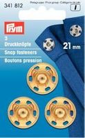 Prym 3 Annäh Druckknöpfe MS 21mm goldfarbig 001