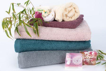 Frottee Handtuch 100% Baumwolle lavendelfarbig – Bild 5