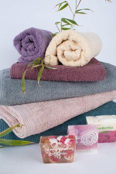Frottee Handtuch 100% Baumwolle lavendelfarbig – Bild 6