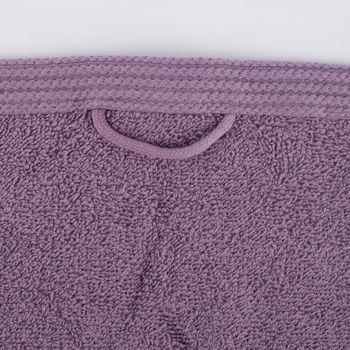 Frottee Handtuch 100% Baumwolle lavendelfarbig – Bild 2