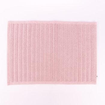 Badematte gestreift einfarbig blush 50x70cm  – Bild 1