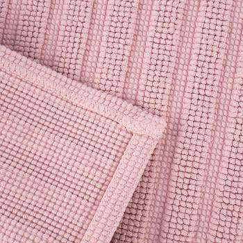 Badematte gestreift einfarbig blush 50x70cm  – Bild 6