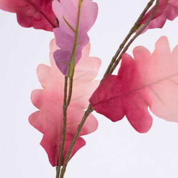 Kunstblume Blätter Zweig rosa pink 85cm – Bild 2