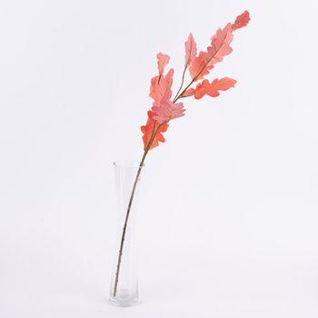 Kunstblume Blätter Zweig koralle 85cm – Bild 1