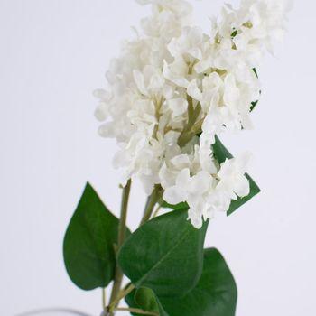 Kunstblume Flieder Zweig weiß 57cm – Bild 3