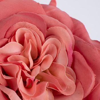 Kunstblume Rose lachsrosa 30cm – Bild 4