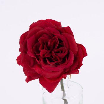 Kunstblume Rose rot 30cm – Bild 3