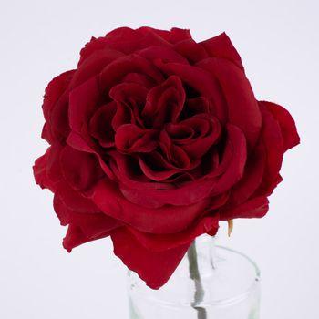 Kunstblume Rose rot 30cm – Bild 4