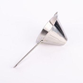 Seiher Metall rostfrei silberfarbig 16x12cm – Bild 1