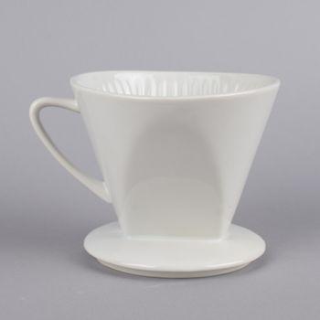 Kaffee Filterhalter Größe 4 Keramik weiß 13x16x12cm – Bild 1