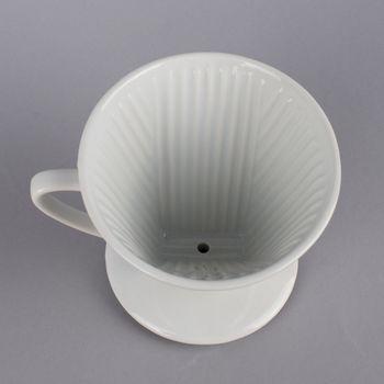 Kaffee Filterhalter Größe 4 Keramik weiß 13x16x12cm – Bild 3