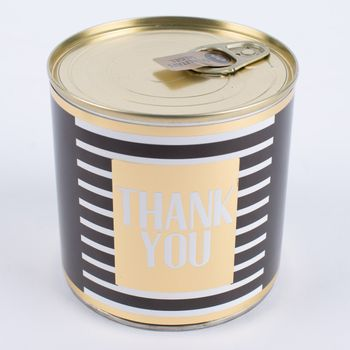 Wondercandle Cancake mit Kerze Thank you schwarz weiß gold 160g – Bild 2