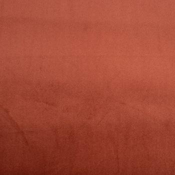 Samtstoff Dekostoff Velvet Samt einfarbig rostbraun 1,4m – Bild 1