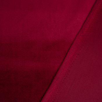 Samtstoff Dekostoff Velvet Samt einfarbig dunkelrot 1,4m – Bild 4